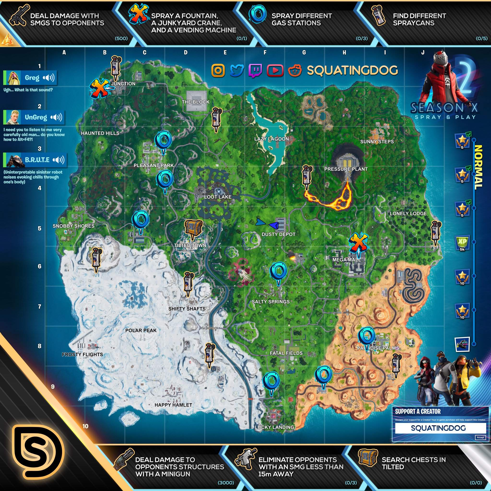 Here Are All Of The Spray And Pray Challenge Locations In Fortntie Fortnite Battle Royale Armory Amino Official twitter account for #fortnite; amino apps