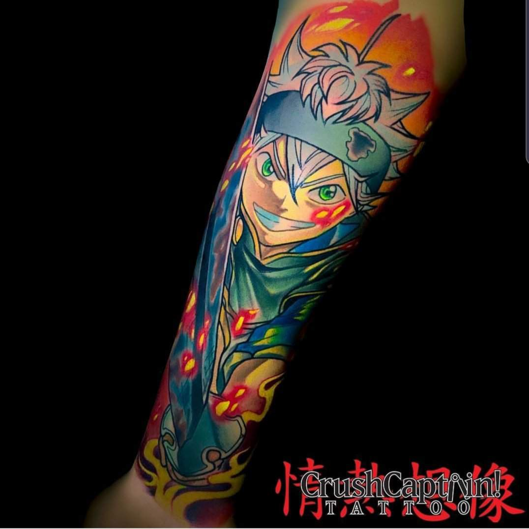 Anyone On Here Good At Designing Tattoos I D Love To Get Asta Added To My Anime Sleeve Black Clover Amino,Cool Blue Banner Designs Minecraft
