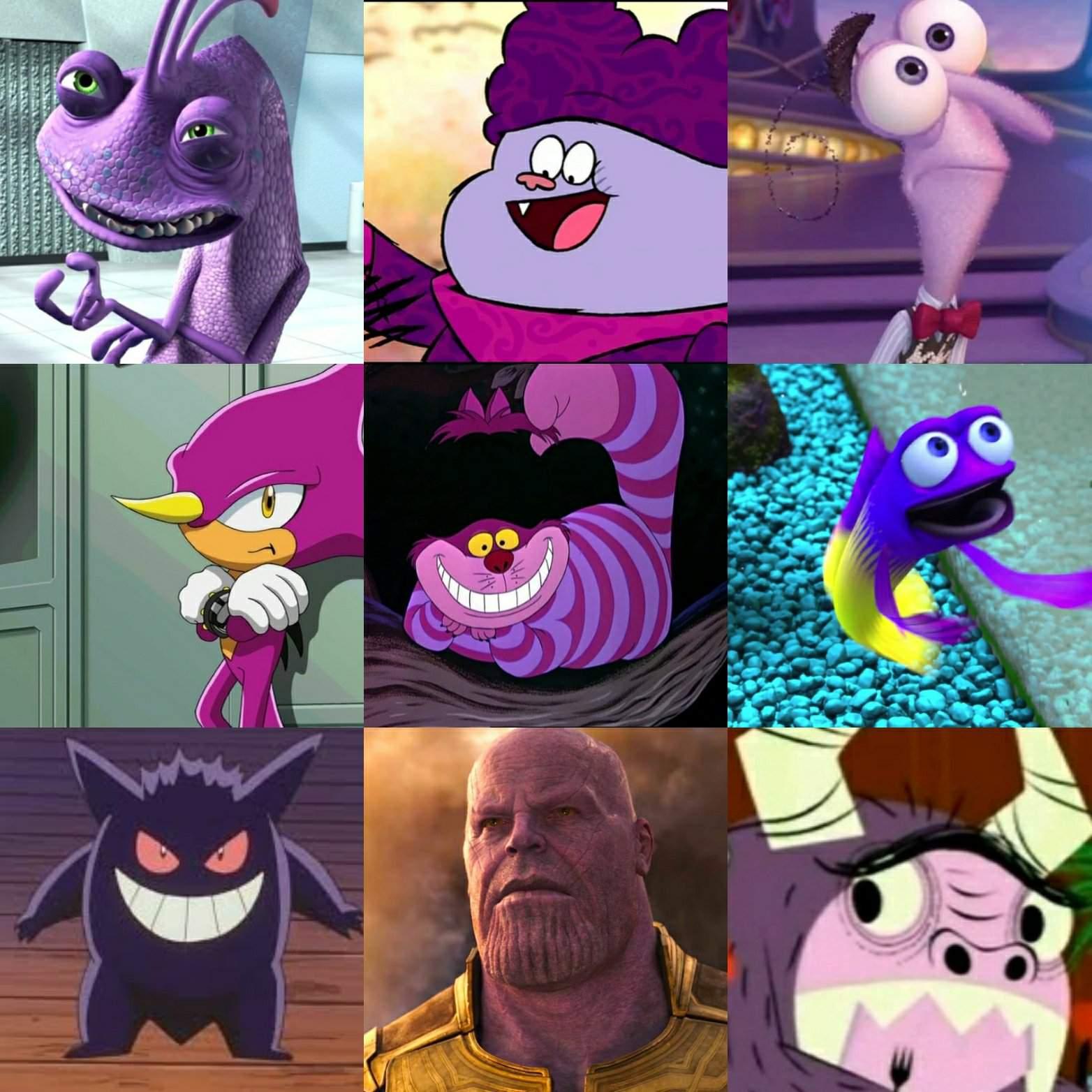 My Personal Favourite Purple Skinned Cartoon Characters Cartoon Amino