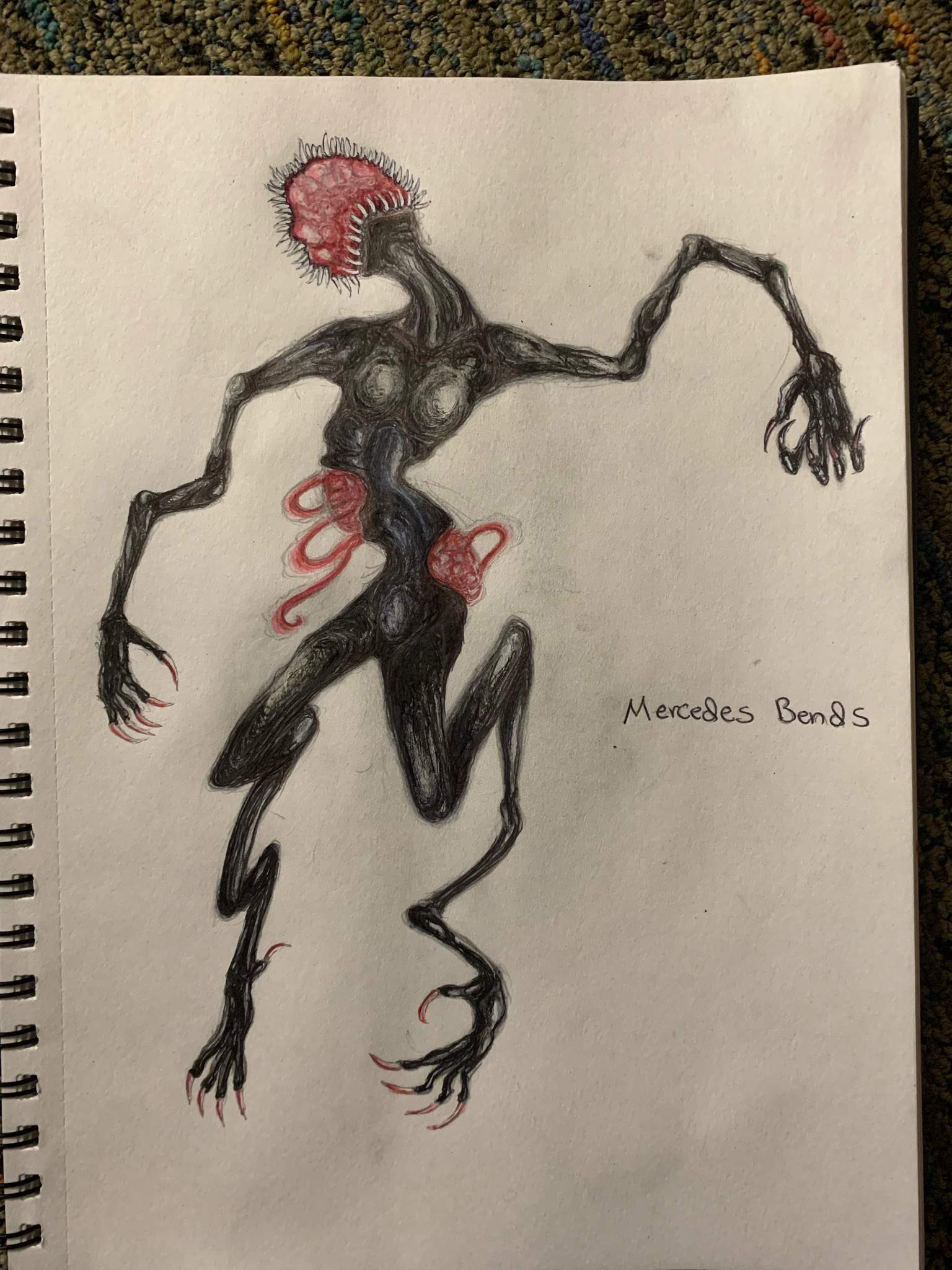 sketches silent hill monsters drawings
