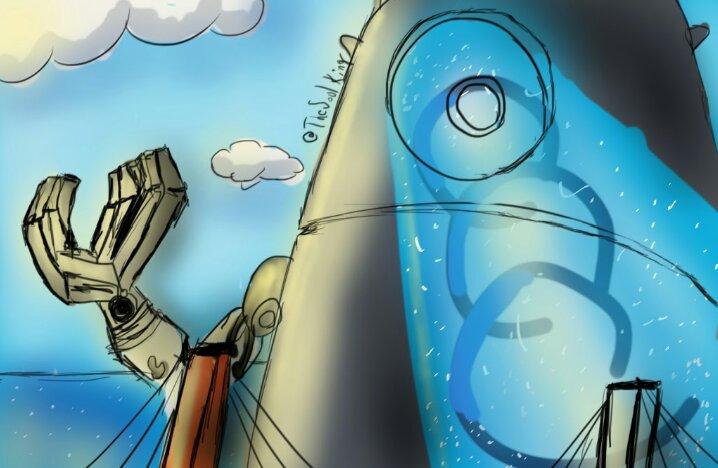 Send The Robot Probe Cartoon Amino