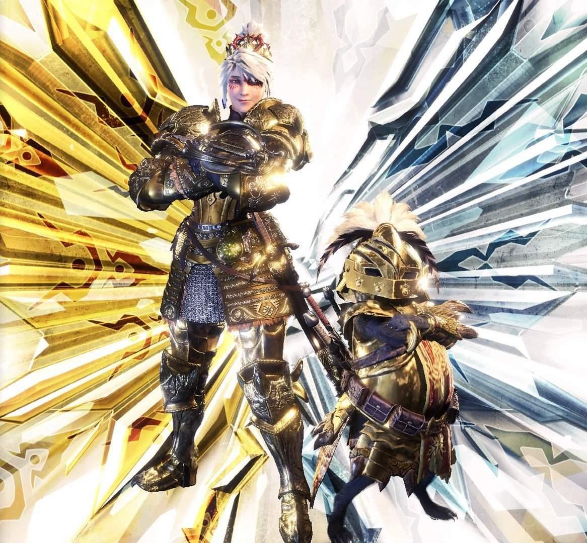 My Mr Golden Rathian Armor Set Monster Hunter Amino