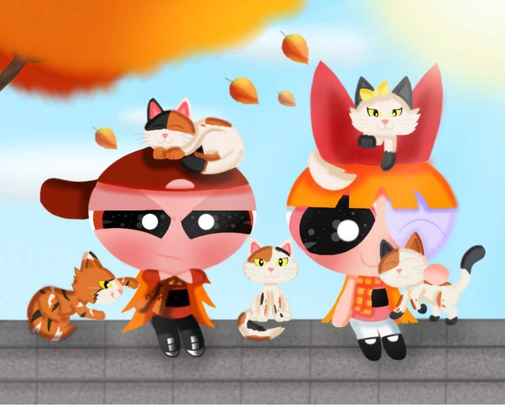Calico Cats - [ Redraw ]   The Powerpuff Girls Amino
