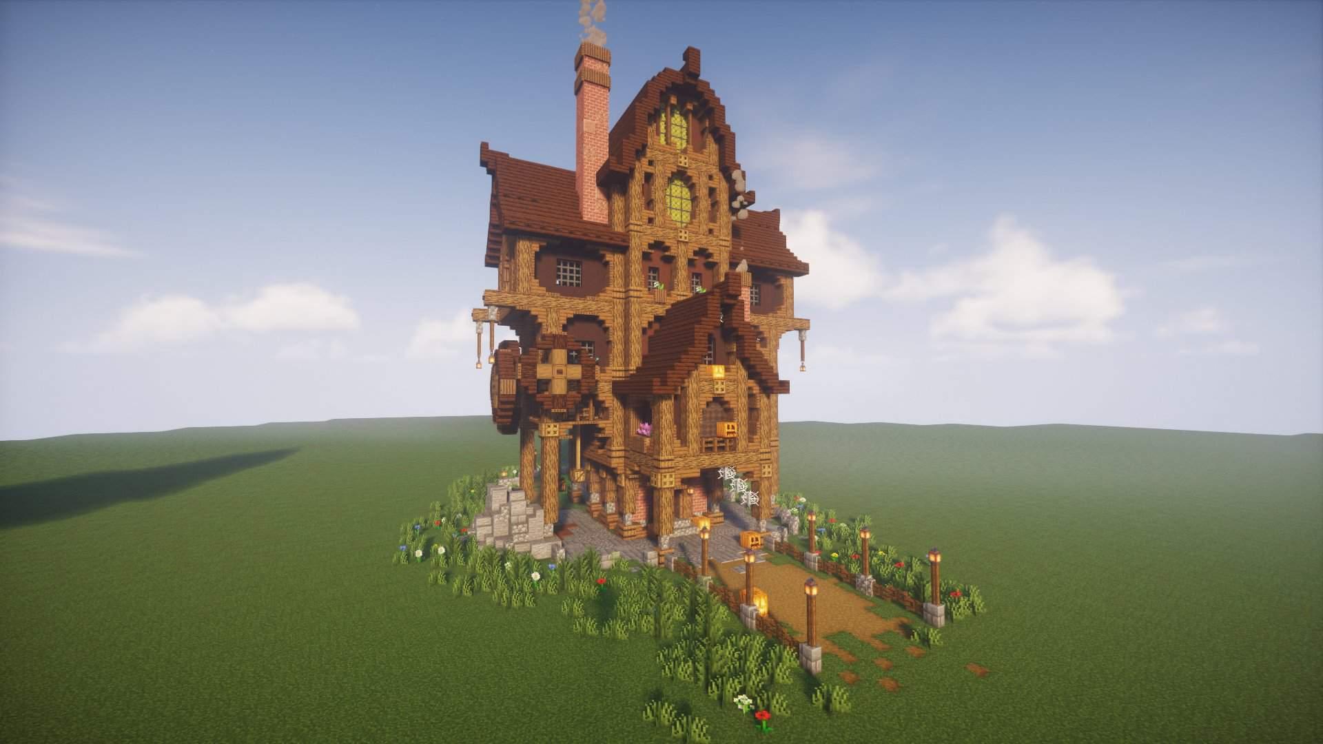 Extra Spowoky Halloween Steampunk Ish House Minecraft Amino