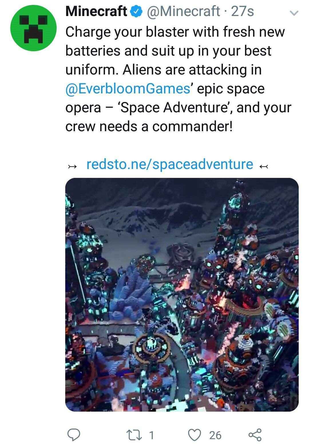 Minecraft Features The New Space Adventure Map By