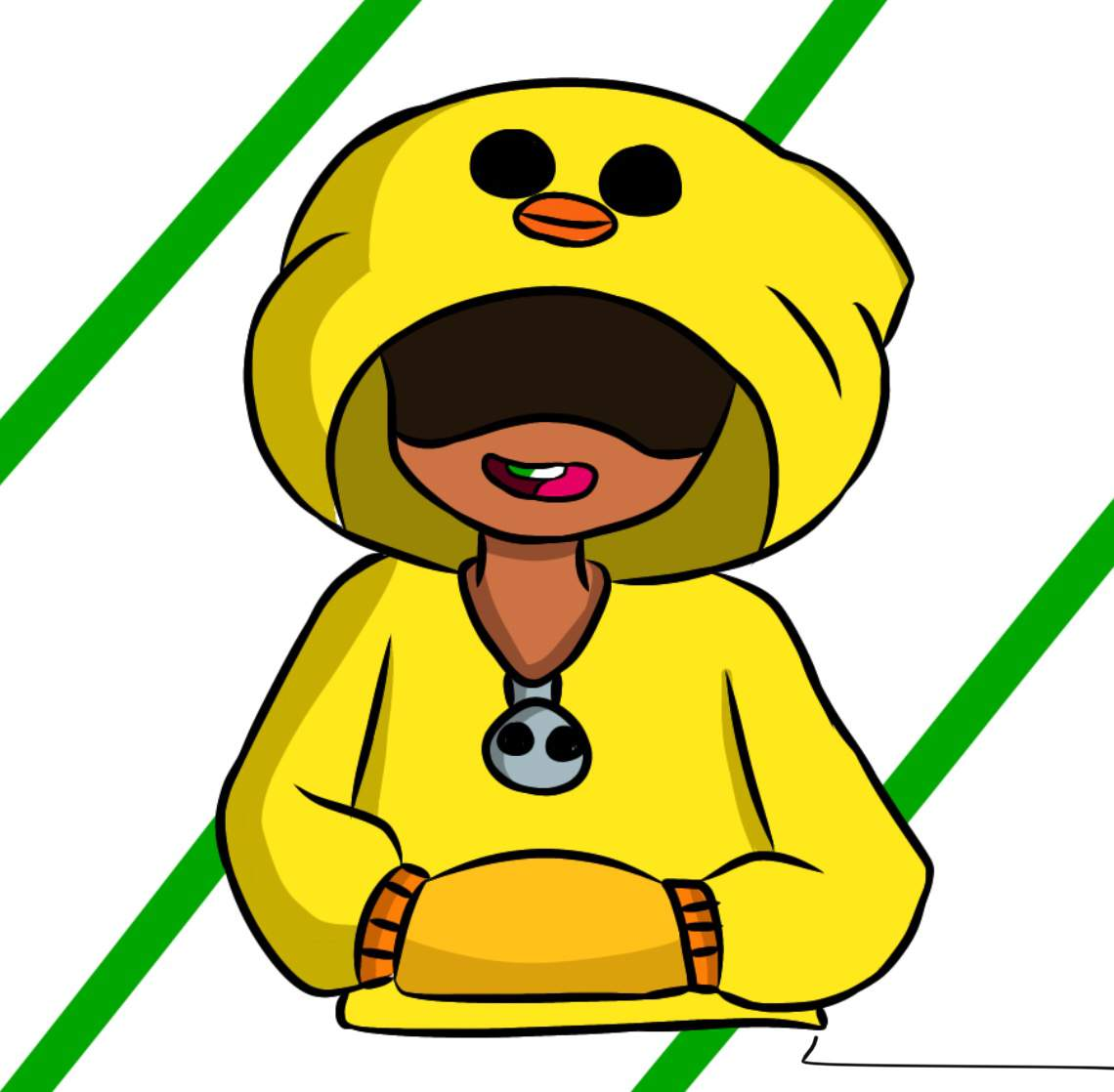 coloring and drawing leon duck brawl stars coloring pages