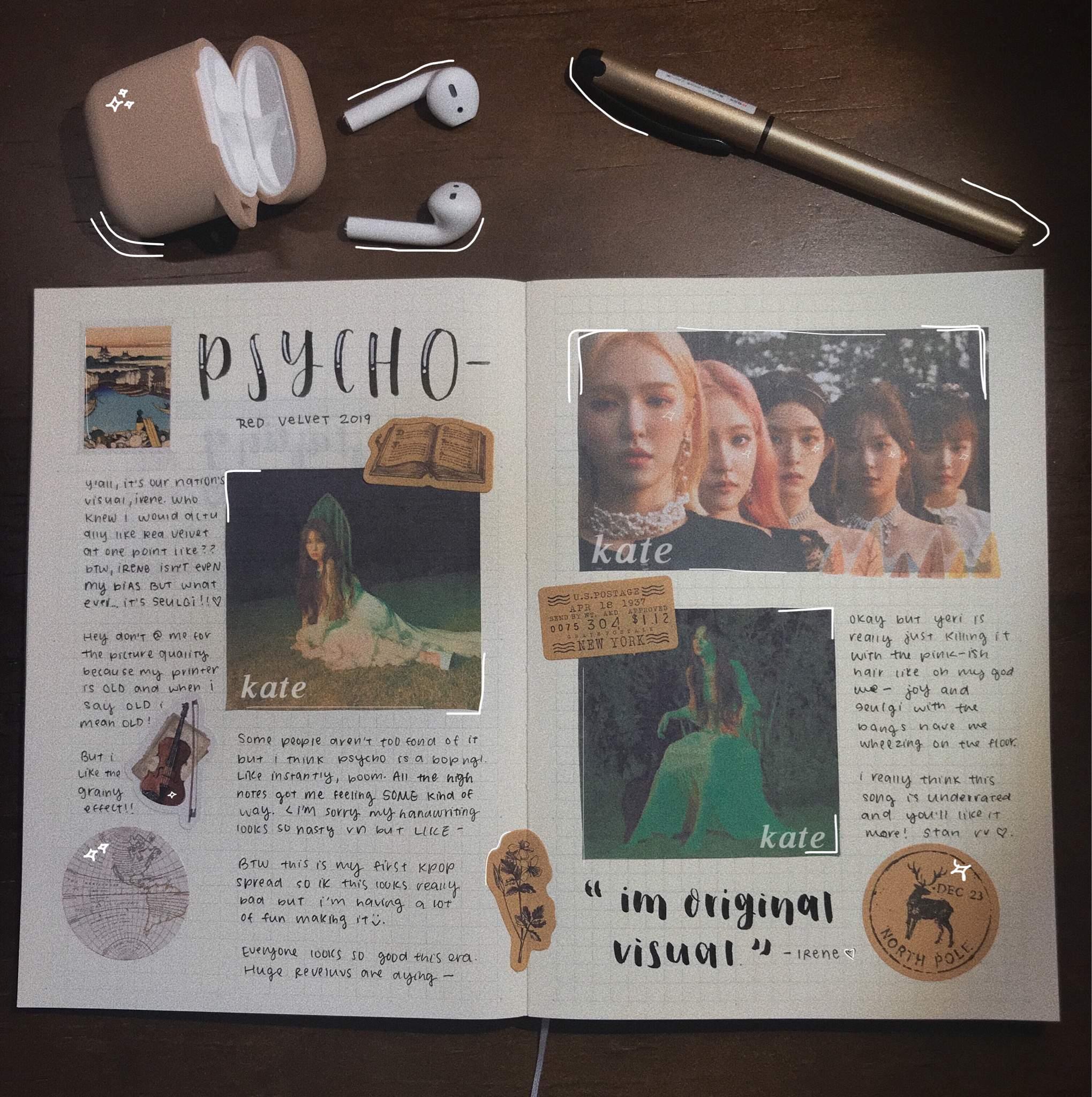 Psycho Journal Spread Red Velvet Amino