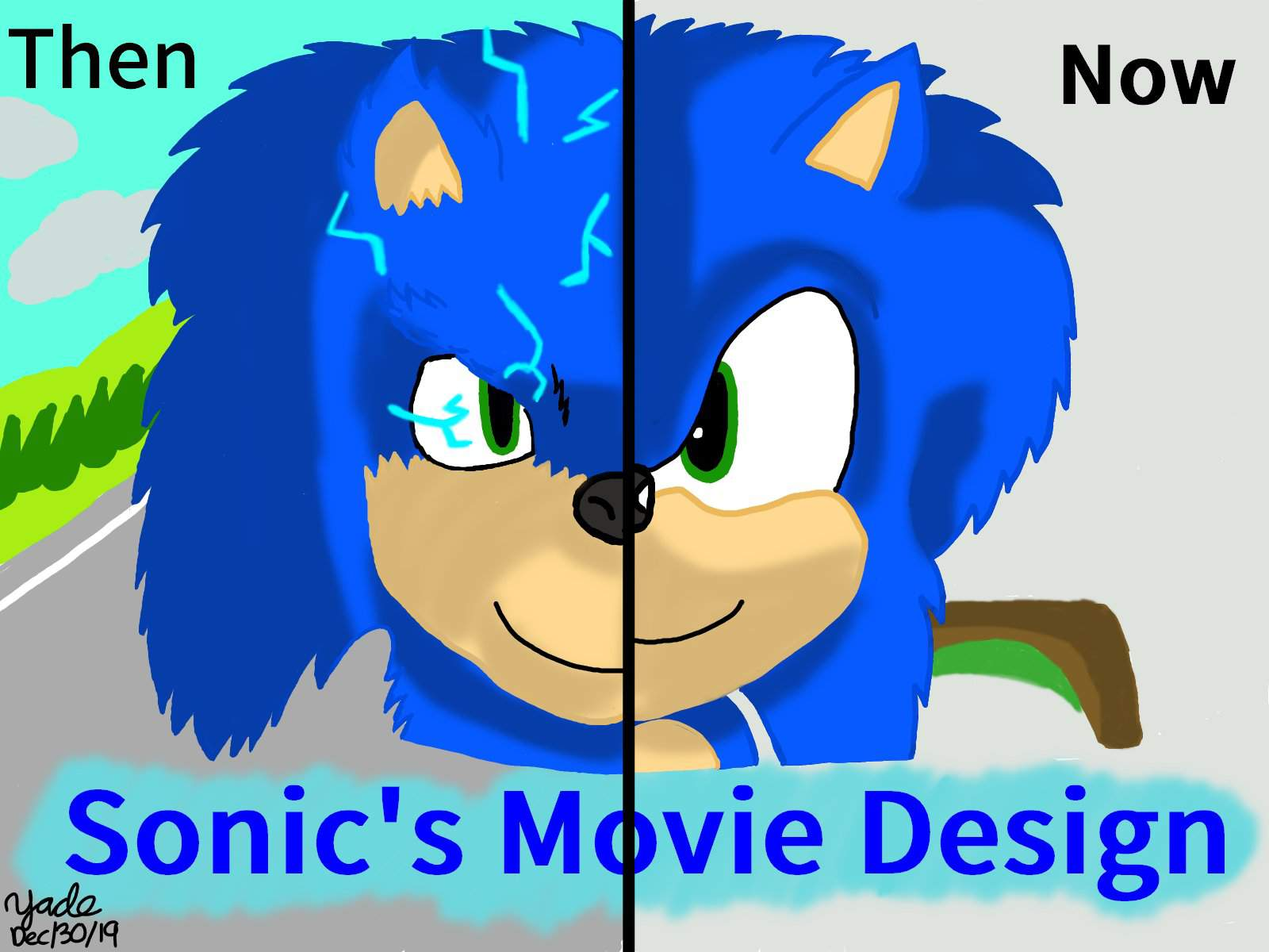Old And New Sonic Movie S Designs Sonic The Hedgehog Amino