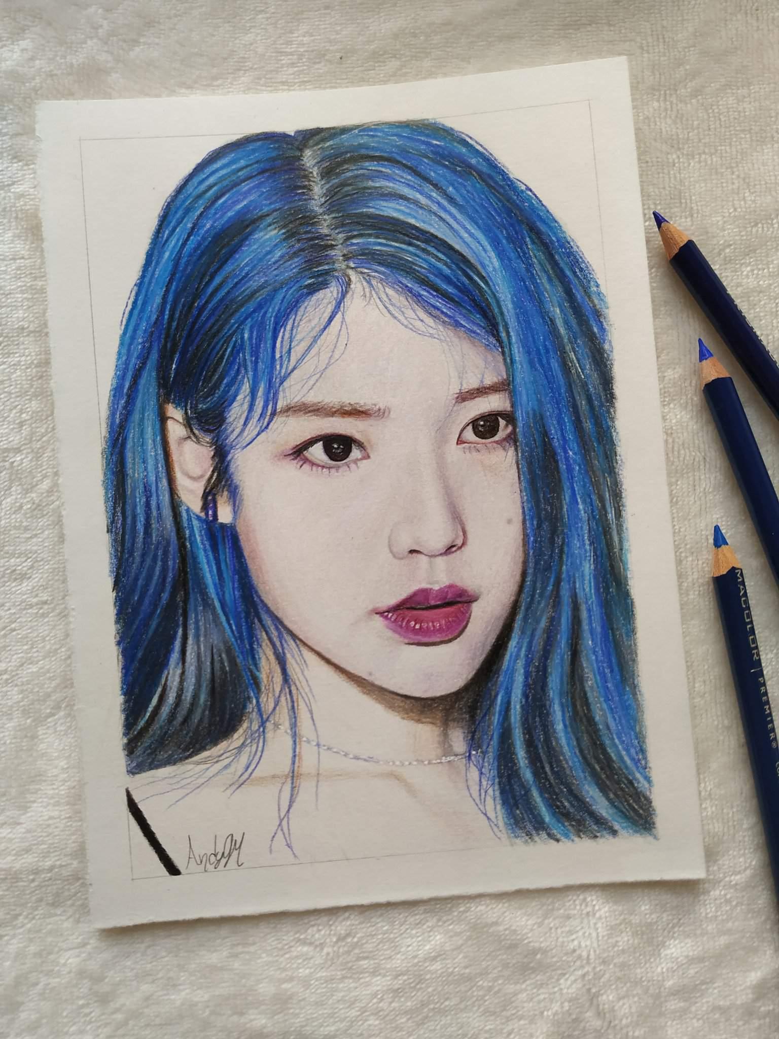 IU (Lee Ji-eun) Color Pencil Drawing   K-Pop Amino
