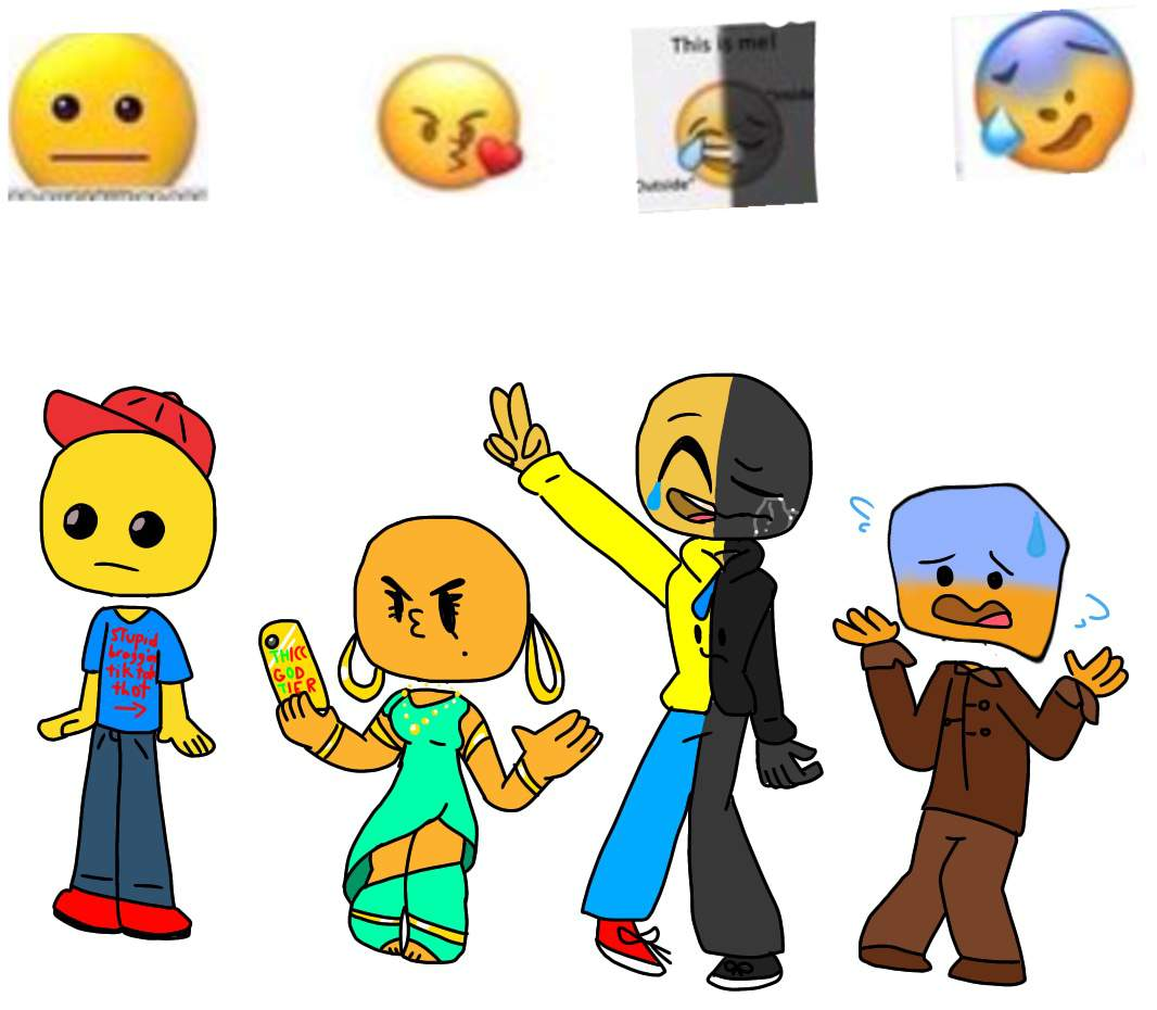 Stupid Cursed Emoji Gijinkas P.3
