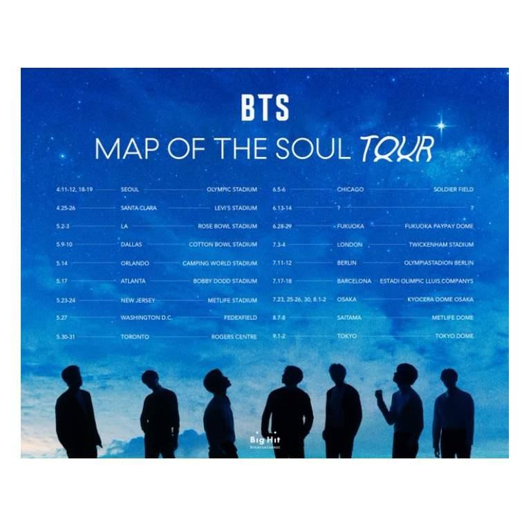 Concert Tour: [NEWS] BTS TOUR DATES RELEASED