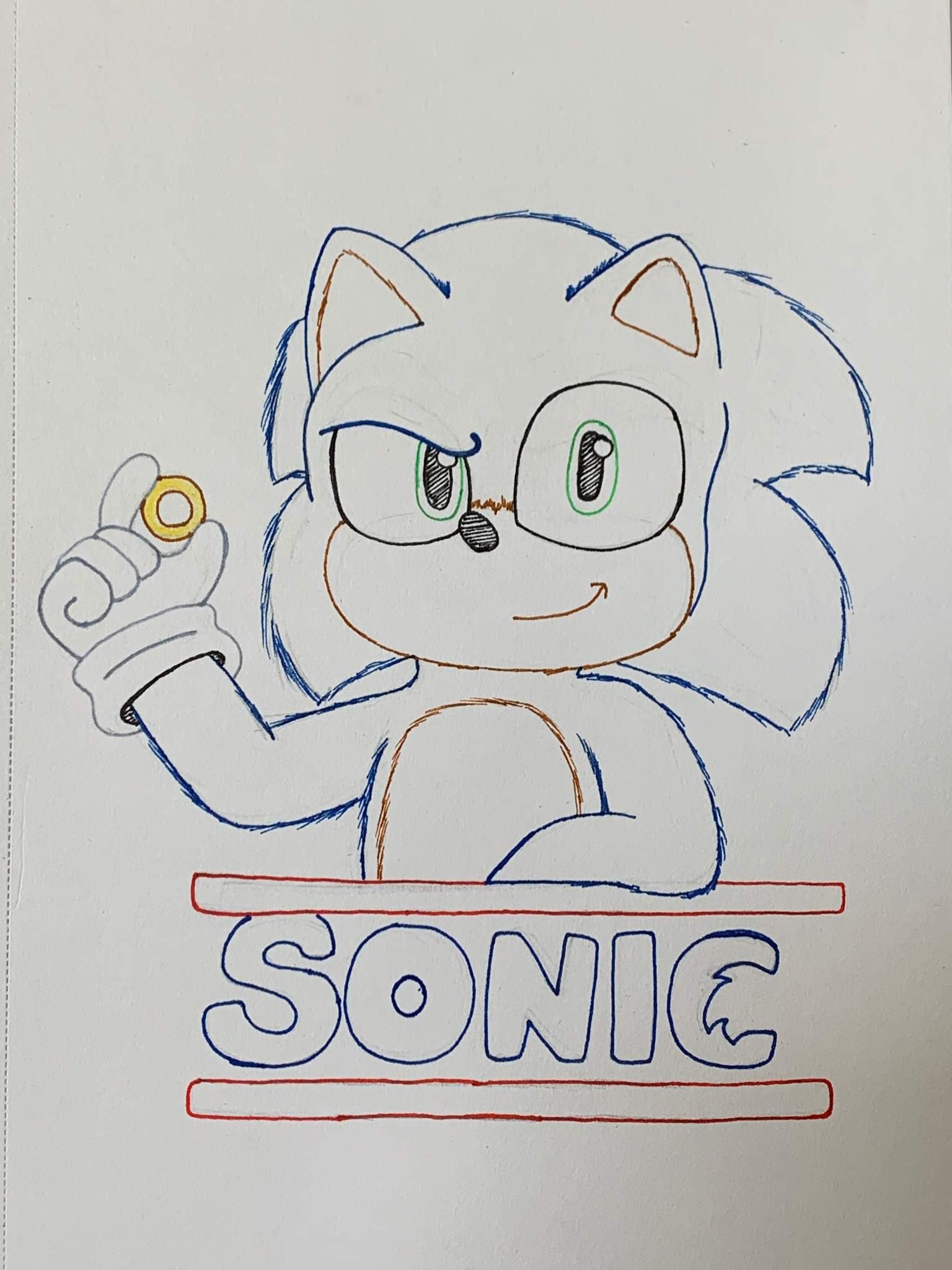 So I Tried To Draw Movie Sonic Sonic The Hedgehog Amino