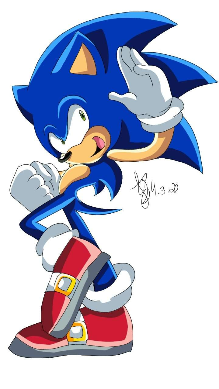 Sonic With Sonic X Art Style Sonic The Hedgehog Amino