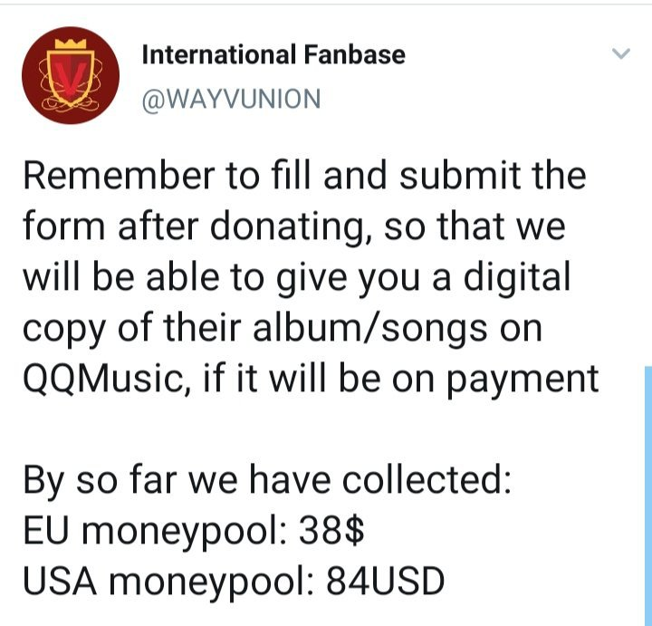 Consider Joining This Account S Moneypool To Help Wayv On Qq Music For Their Comeback Nct 엔시티 Amino