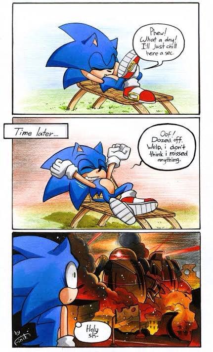 Sonic Funny Comic Sonic The Hedgehog Amino