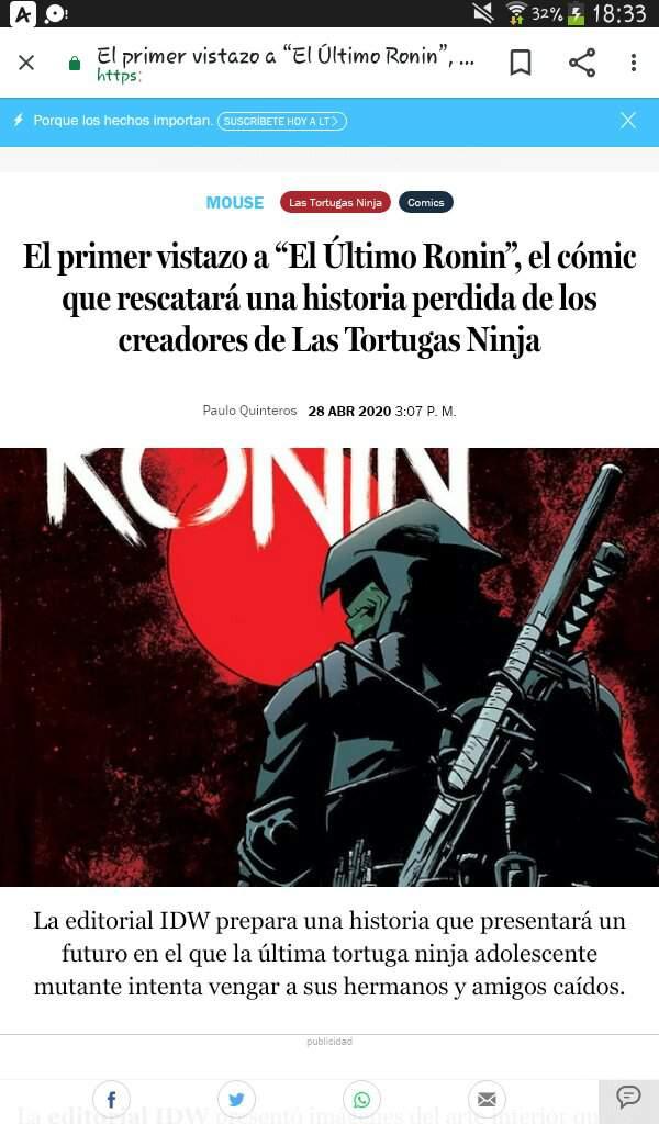 tmnt the last ronin comic espanol