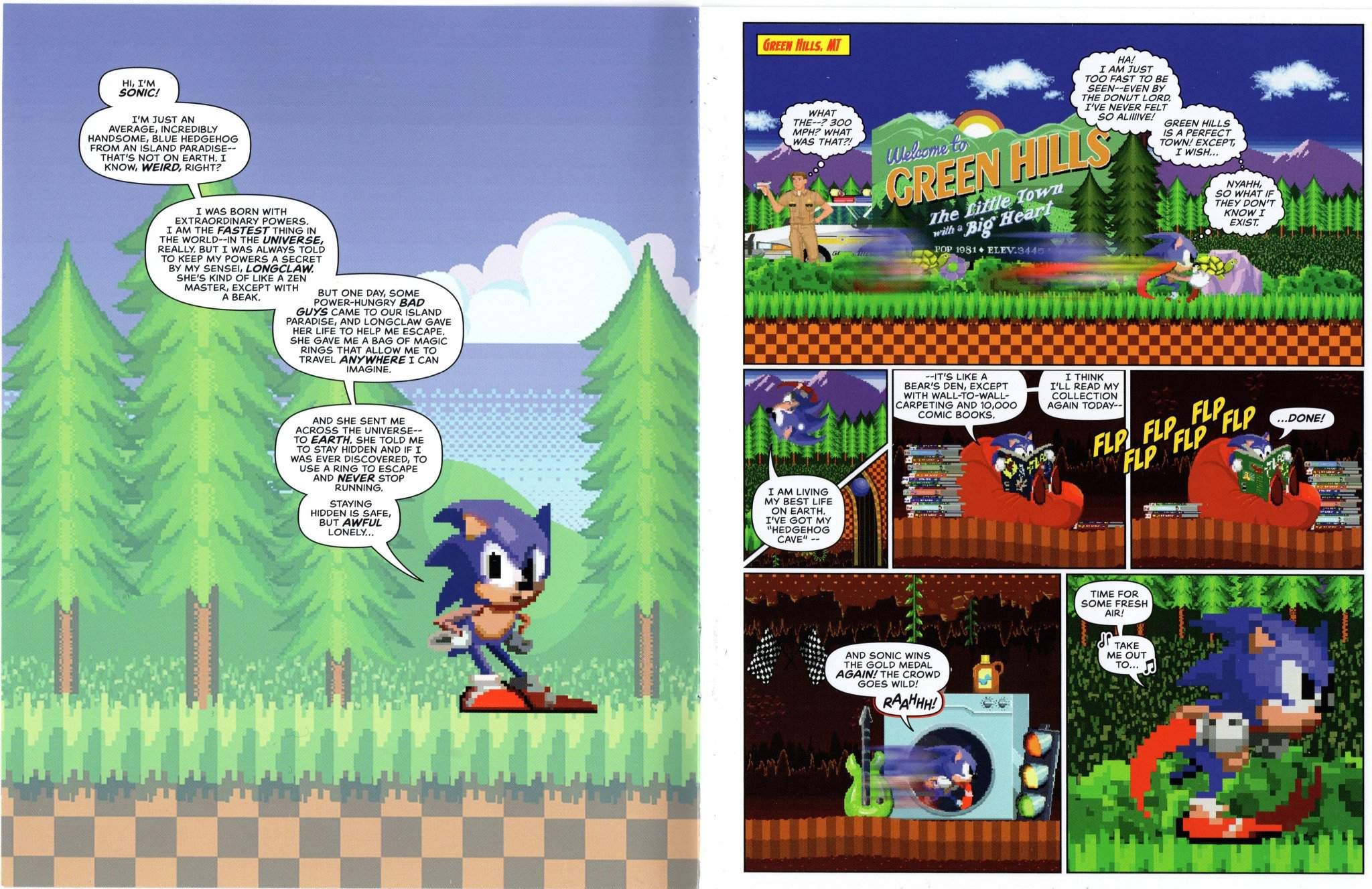 The Full Comic Of The Adventures Of Sonic Donut Lord Sonic The Hedgehog Amino