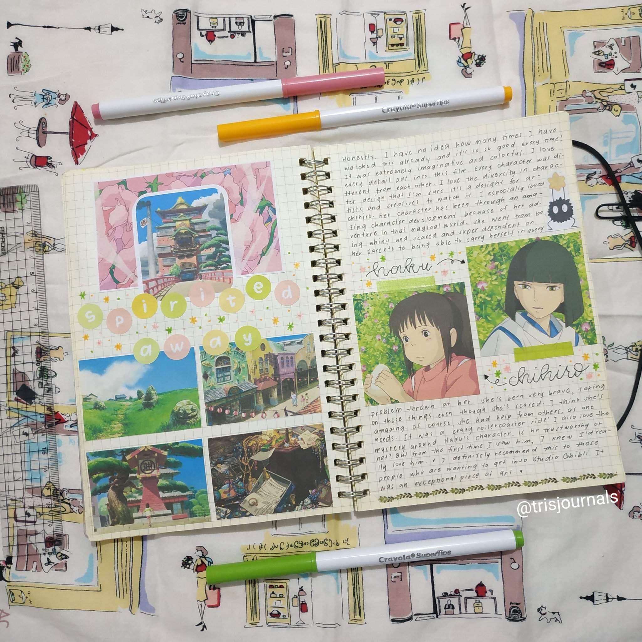 S P I R I T E D A W A Y Bullet Journal Amino