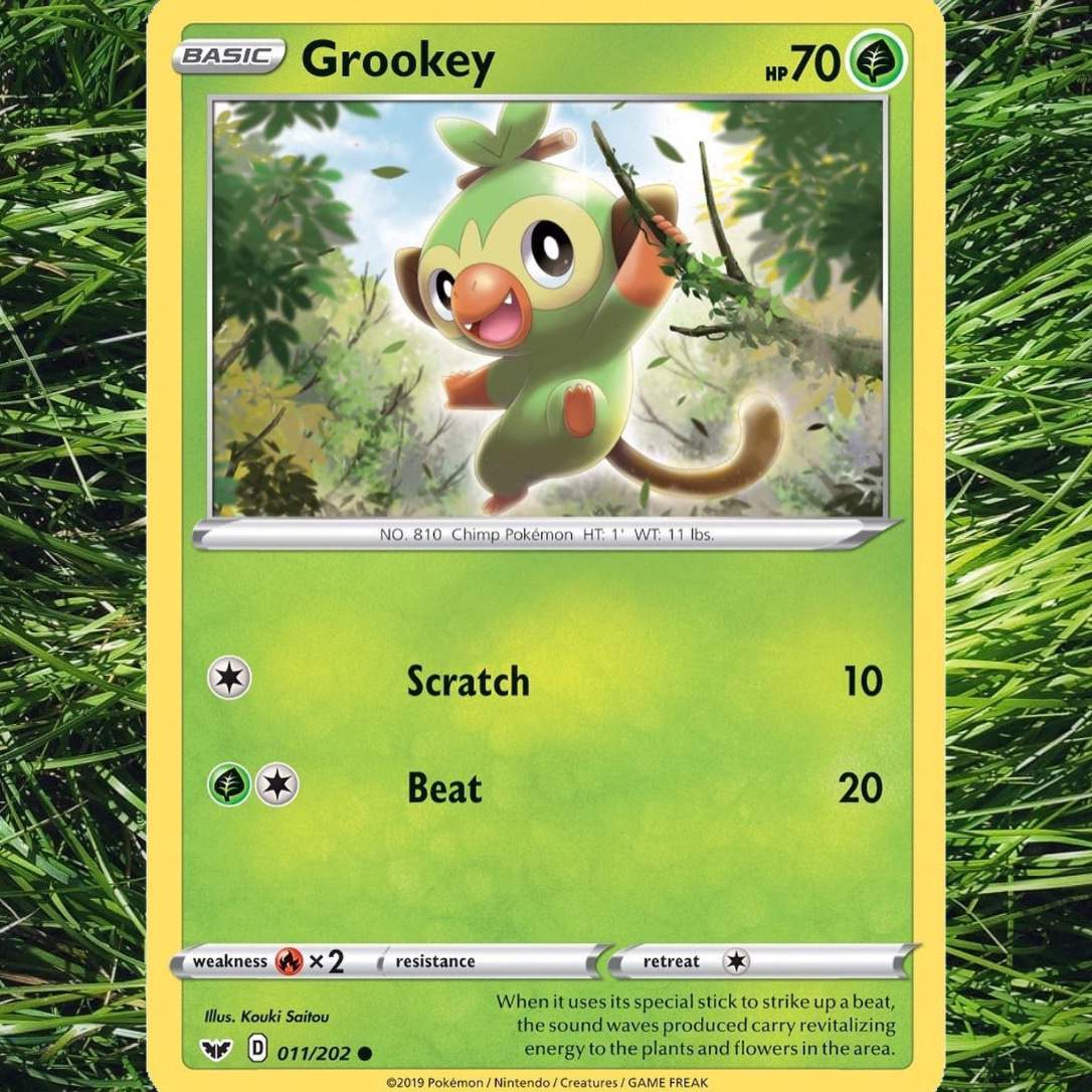 Grookey Wiki Pokemon Sword And Shield Amino The pokemon company has sent us the first cards images of grookey, sobble, scorbunny each galar collection will come with one of three promo cards showcasing grookey, scorbunny, or sobble. grookey wiki pokemon sword and shield amino