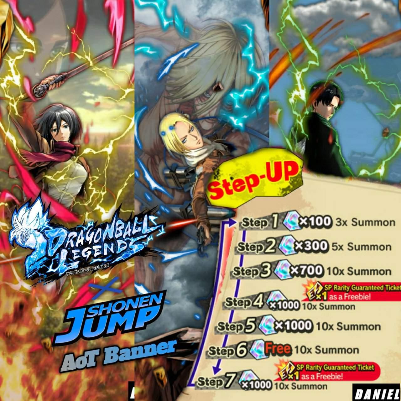 Legends X Shonen Jump Collab Concept Aot Edition Dragon Ball Legends Amino