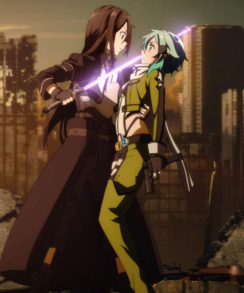 Sinon Was The First Person That Kirito Became Acquainted With In World Of Gun Gale Online However At Time Had Presumed A