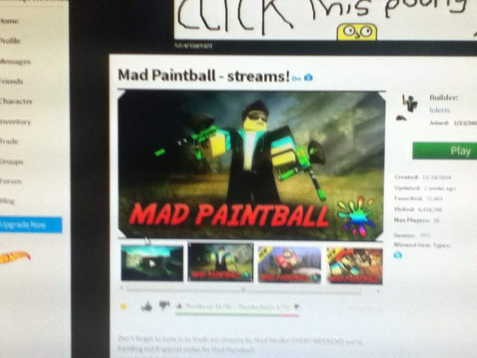 Roblox Mad Paintball Video Games Amino