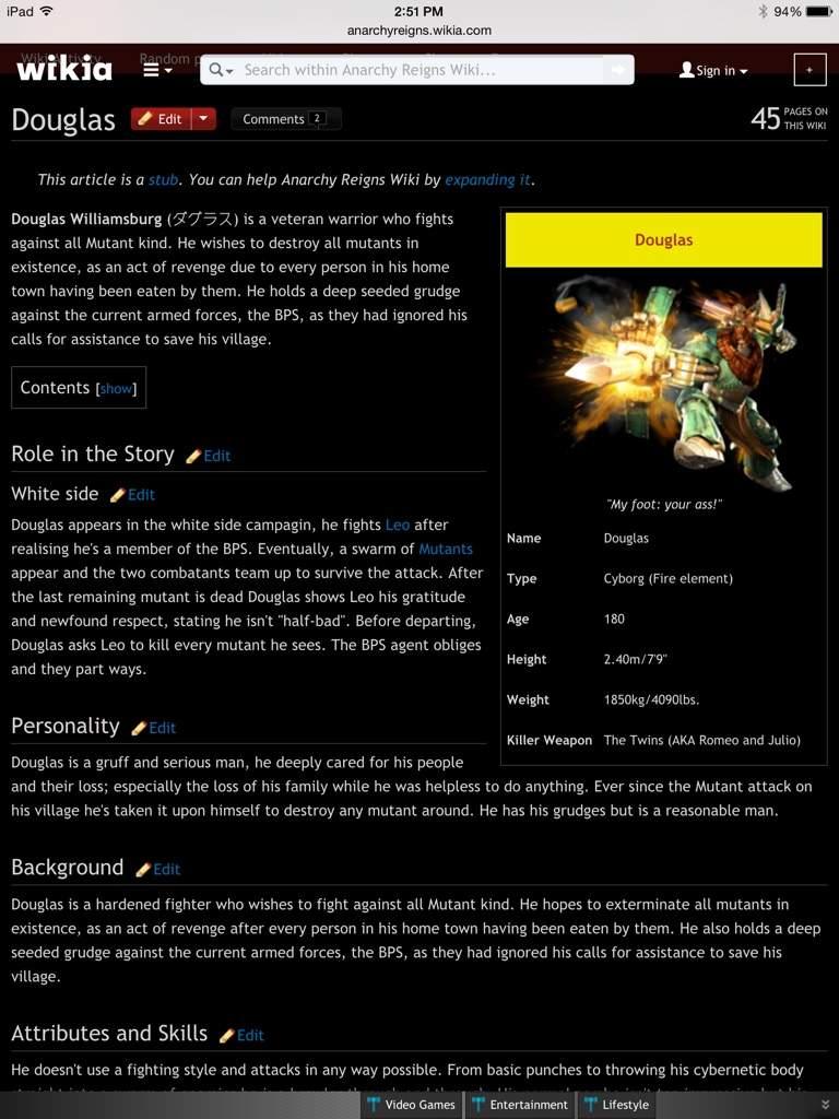 Anarchy Reigns Wikia douglas | wiki | video games amino