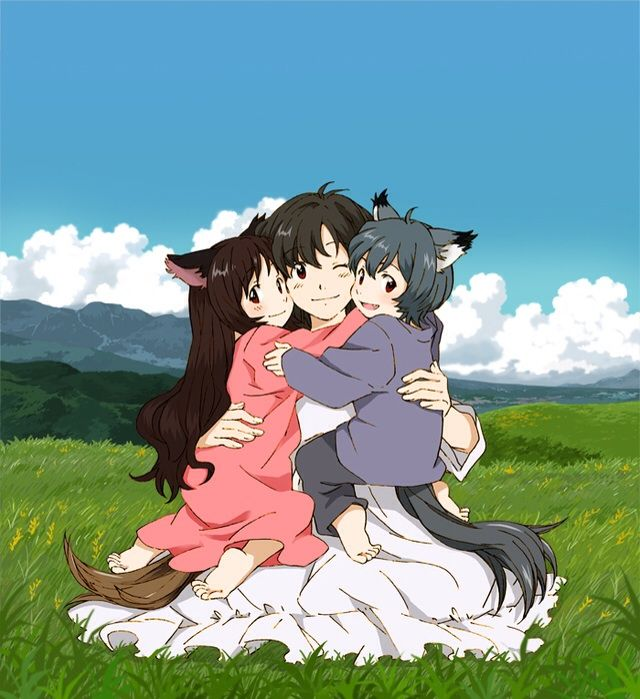 Hana Is The Mother Of Ame And Yuki In 2 Hours Anime Movie Ookami Kodomo No To She Was A Loving Wife
