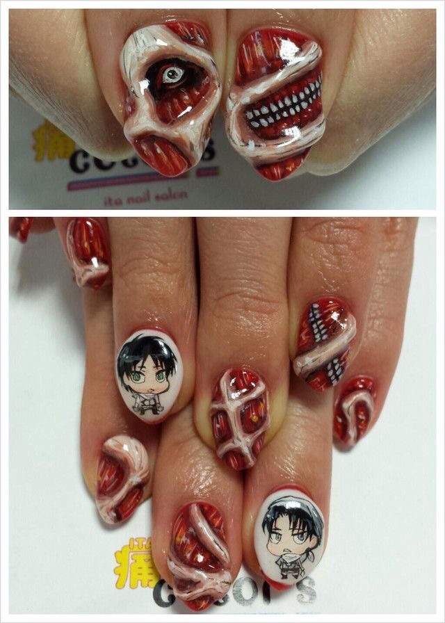 Anime nail art anime amino the super detailed prinsesfo Gallery