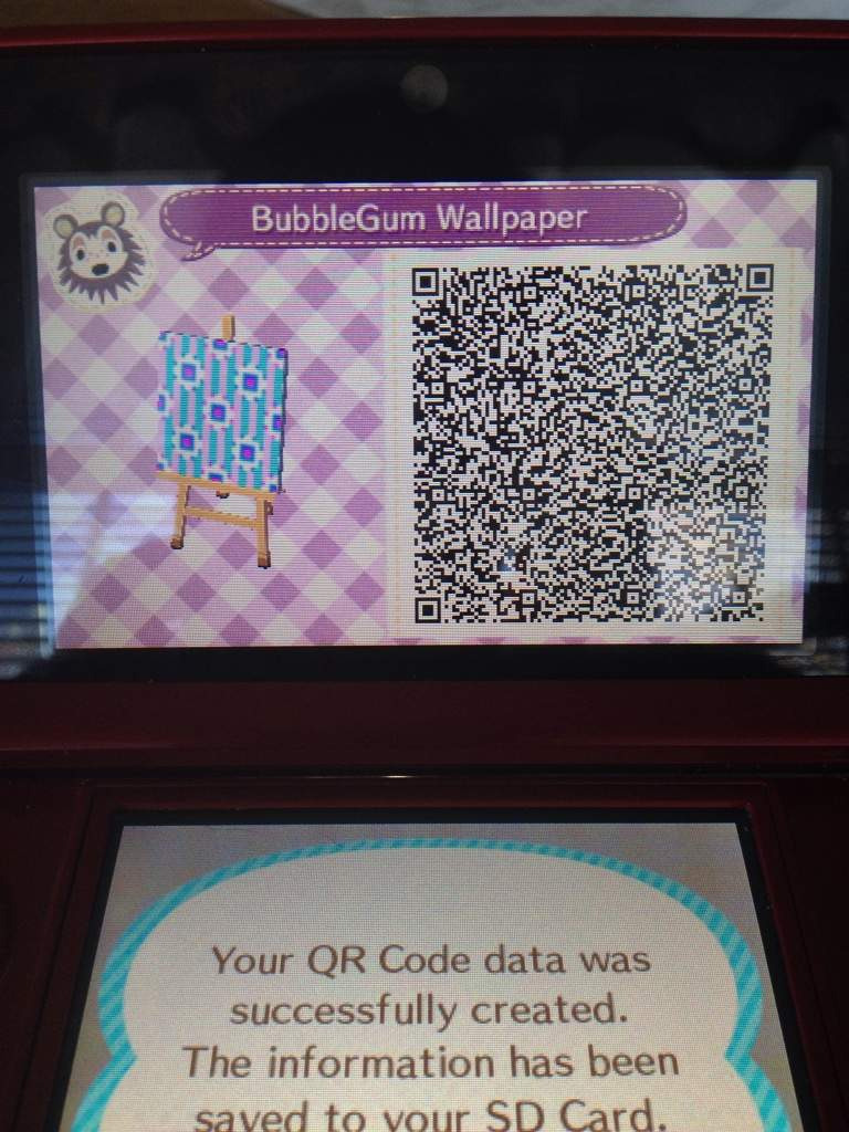 kawaii animal crossing qr codes wallpaper