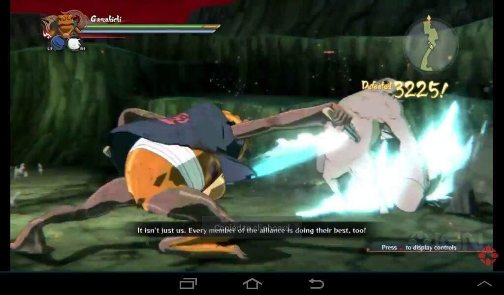 Naruto Shippuden Ultimate Ninja Storm 4: Gamakichi vs the