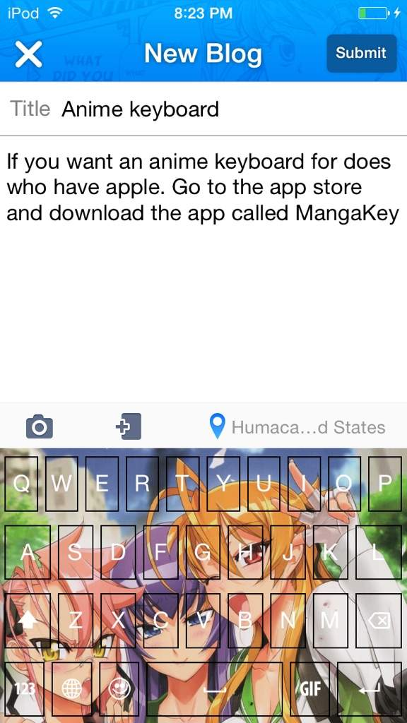 If You Want An Anime Keyboard For Does Who Have Apple Go To The App Store And Download Called MangaKey