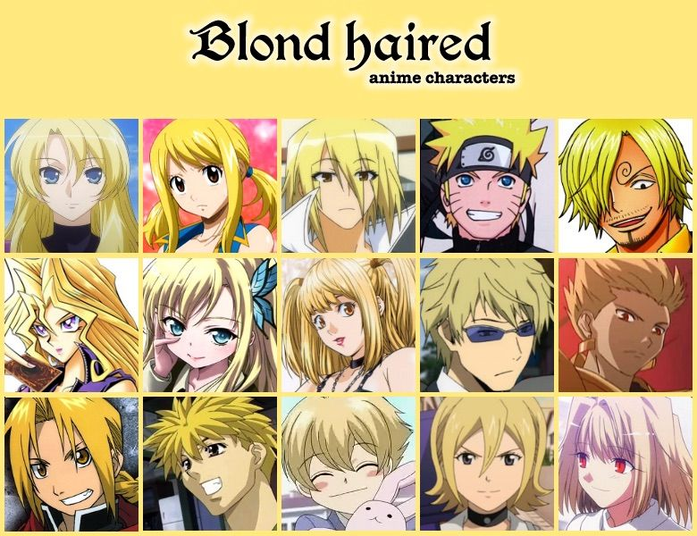 Anime Characters Long Brown Hair : Favorite blonde hair charachter anime amino