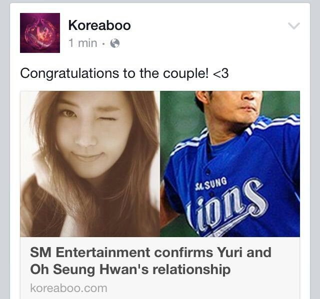 Yuri oh Seung Hwan dating