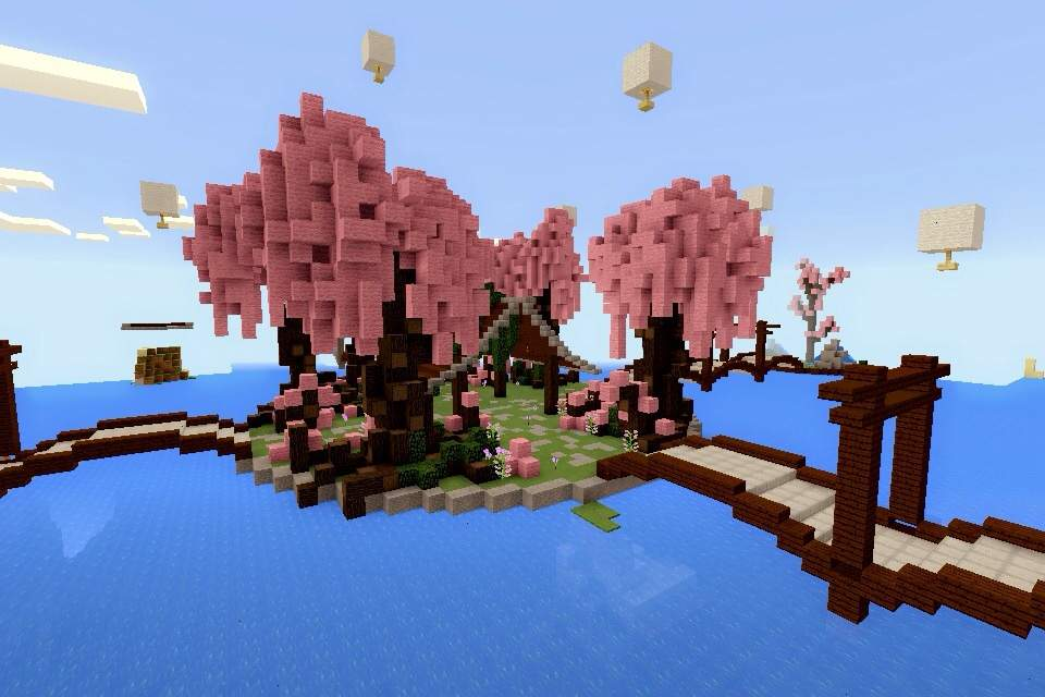 Minecraft PE: Build #8 Cherry Blossom Park | Minecraft Amino on mcpe lost map, mcpe the walking dead map, mcpe mansion map, mcpe city map,