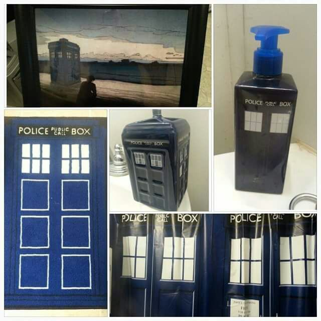 Merveilleux Doctor Who Bathroom Set