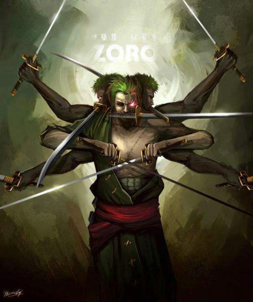 Image result for zoro one piece demon eye