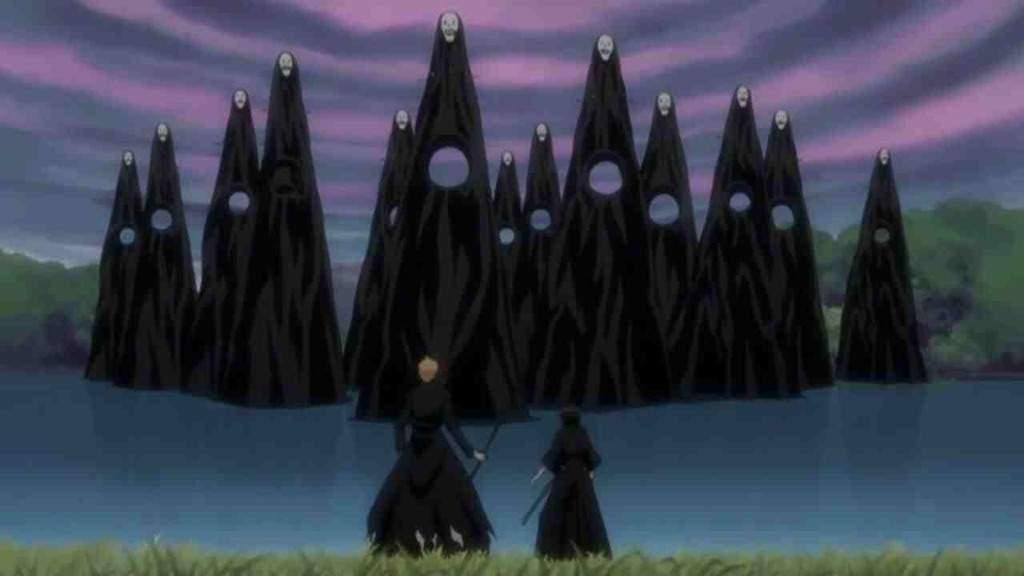 A Group Of Gillians Menos Grande Converge On Ichigo And Rukia