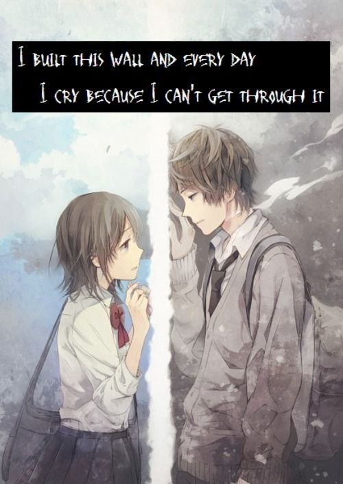 Angry Love couple Wallpaper : Sad anime Quotes Anime Amino