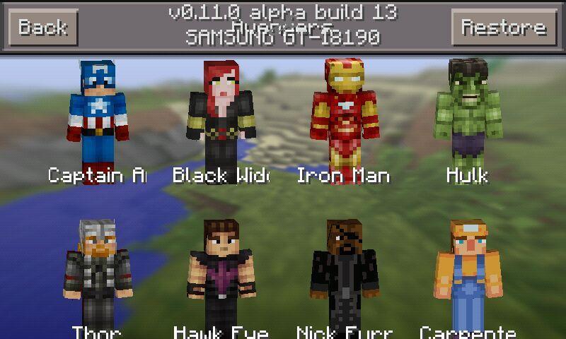 Avengers And Mojang Skin Packs For MCPE Minecraft Amino - Skins para minecraft pe 0 15