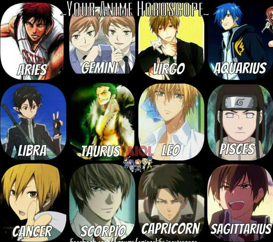 Anime Characters Born June 9 : Whats your anime horoscope amino