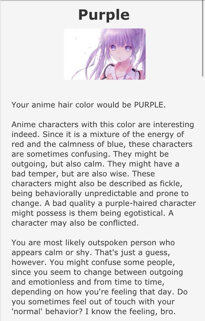 Anime hair color test! :3   Anime Amino