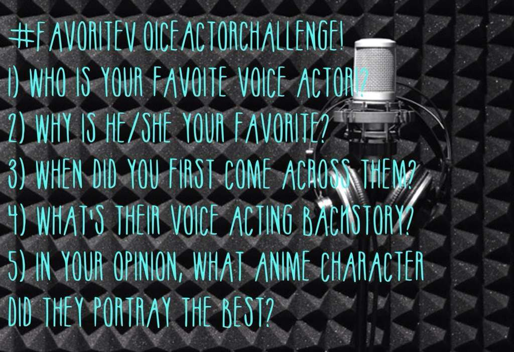 This is my favorite voice actor #FavoriteVoiceActorChallenge