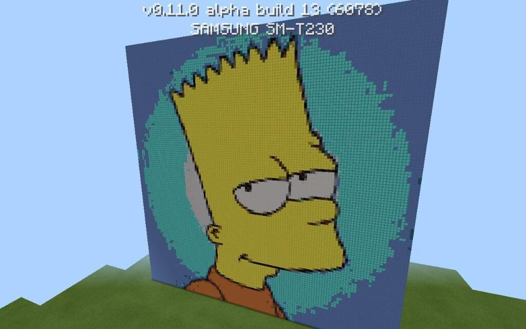 Bart Simpson Pixel Art Minecraft Amino