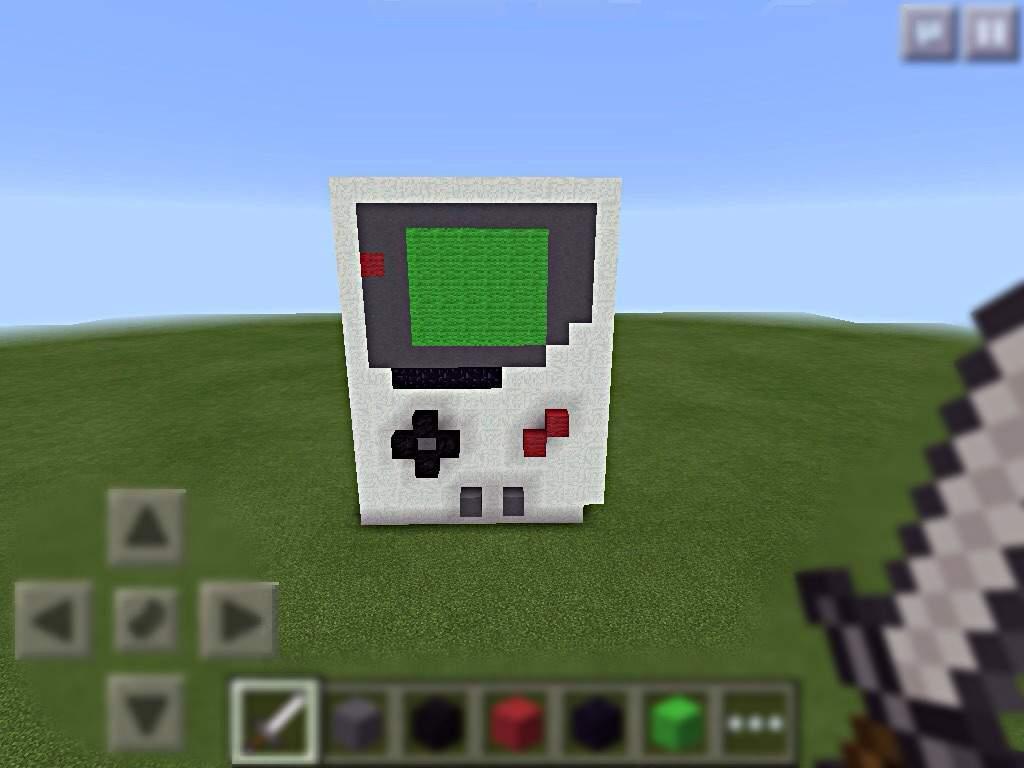 3d Gameboy Pixel Art Minecraft Amino