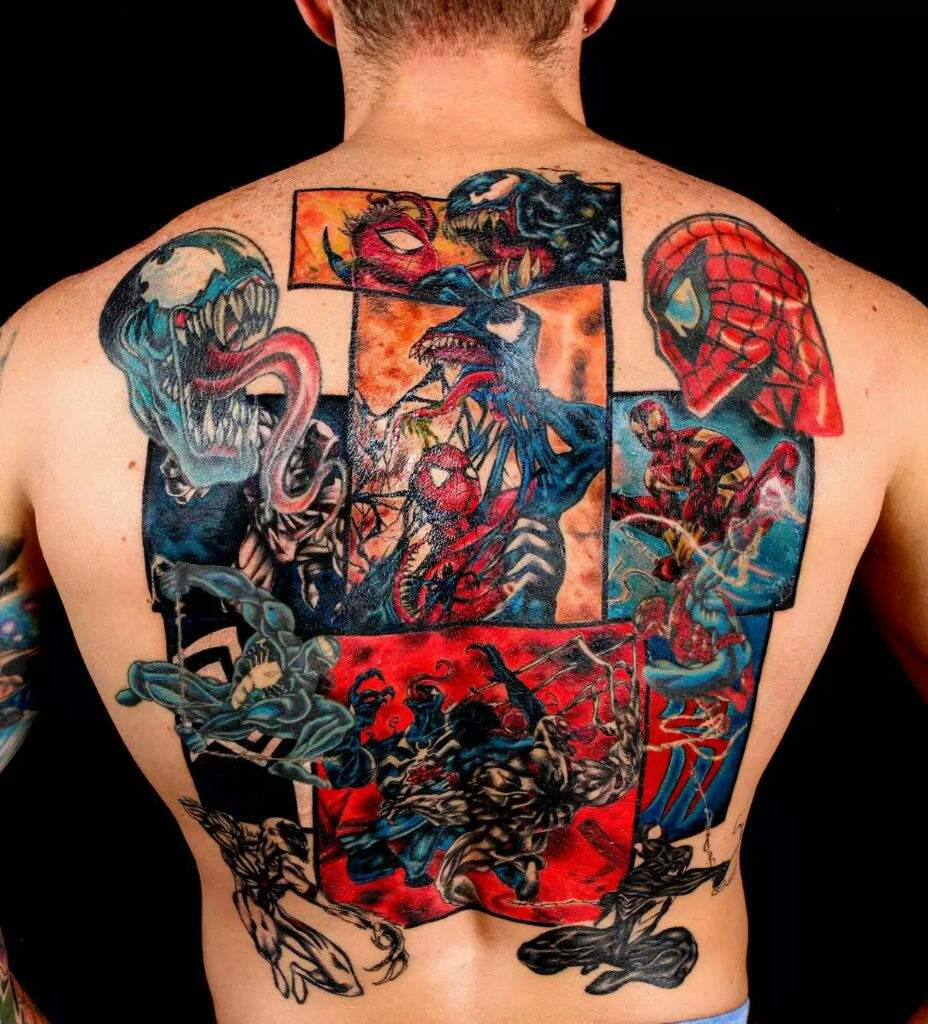 How many of you guys have superhero tattoos | Comics Amino