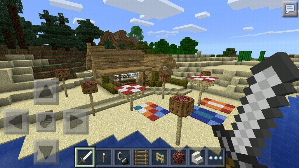 how to build a couch in minecraft pe