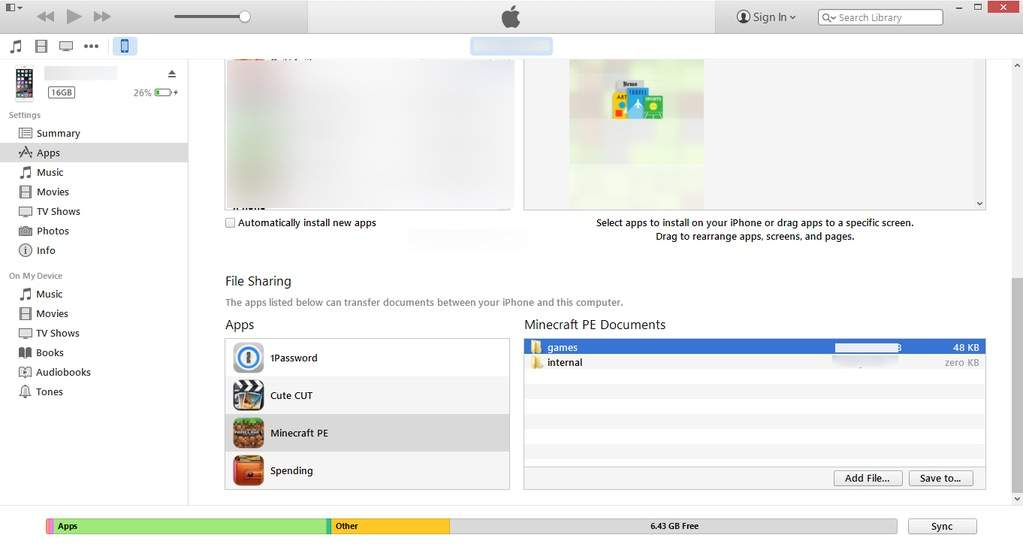 MCPE 0 11 iTunes File Sharing Feature?! Download & upload maps on