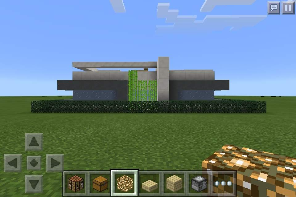 Minecraft pe build small modern lot house 18x18 for Modern house 18x18
