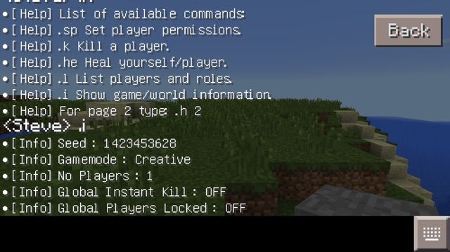 Command codes for minecraft pe